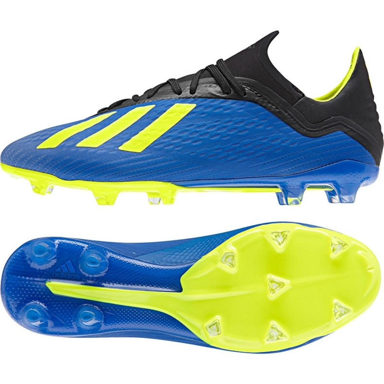 Buty piłkarskie adidas X 18.2 Fg M DA9334 granatowe niebieskie