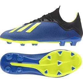 Buty piłkarskie adidas X 18.3 Fg M DA9335 niebieskie wielokolorowe