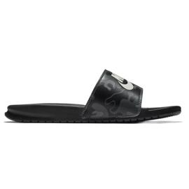 Czarne Klapki Nike Benassi Just Do It Print 631261-013
