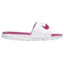 Białe Klapki Nike Benassi Solarsoft Slide 705475-160