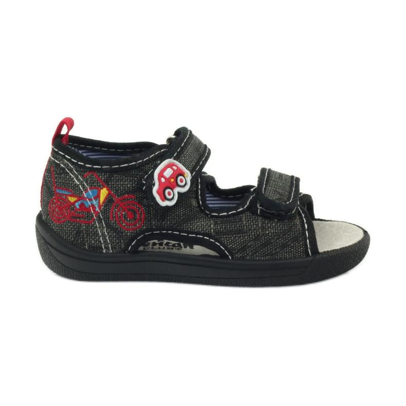 American Club American sandałki buty dziecięce wkładka skórzana czarne szare czerwone