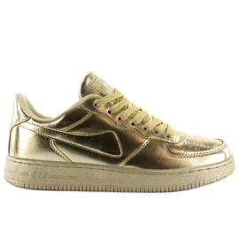Żółte Sportowe buty crazy colours B731 Gold
