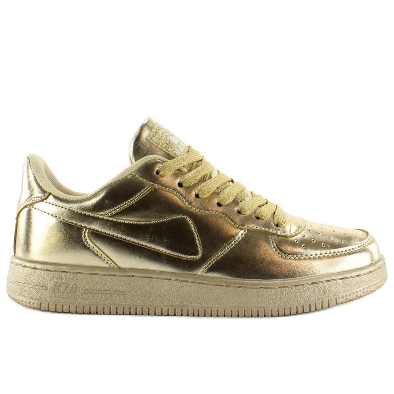Sportowe buty crazy colours B731 Gold żółte