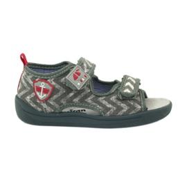 American Club szare sandałki dziecięce TEN36 czerwone