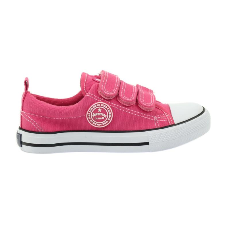 American Club American trampki tenisówki buty dziecięce różowe