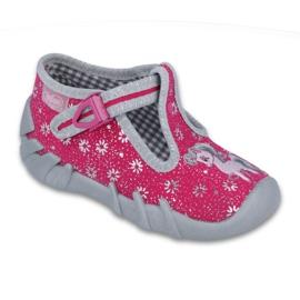 Różowe Befado obuwie dziecięce 110P329