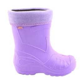Fioletowe Befado obuwie dziecięce kalosz- fiolet 162P102