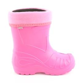 Różowe Befado obuwie dziecięce kalosz-róż 162Y101