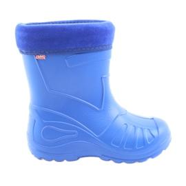Niebieskie Befado obuwie dziecięce kalosz- chabrowy 162Y106