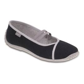 Czarne Befado obuwie młodzieżowe 345Q157