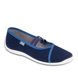 Granatowe Befado obuwie młodzieżowe 345Q158