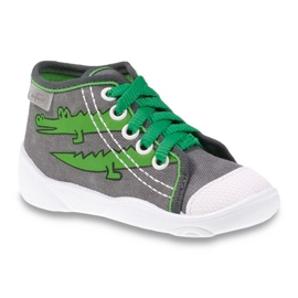 Befado obuwie dziecięce 218P053 szare zielone