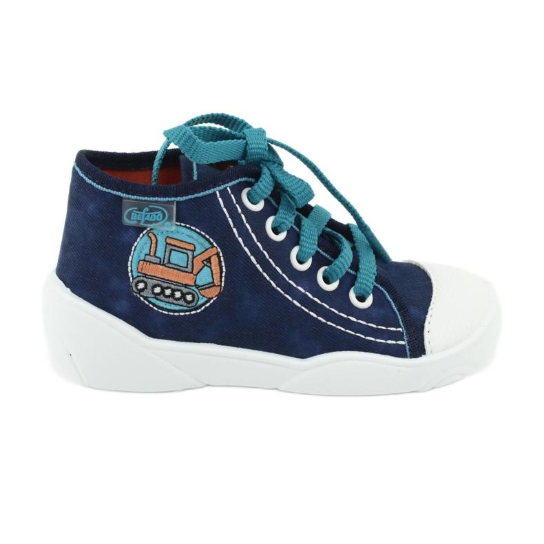 Niebieskie Befado obuwie dziecięce 218P054