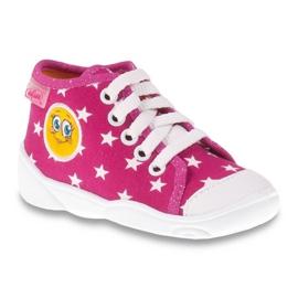 Różowe Befado kolorowe obuwie dziecięce 218P055