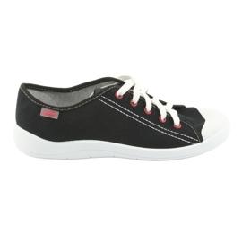 Czarne Befado obuwie młodzieżowe 244Q019