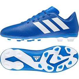 Buty piłkarskie adidas Nemeziz 18.4 FxG Jr DB2357 niebieskie wielokolorowe