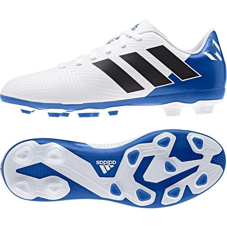 Buty piłkarskie adidas Nemeziz Messi 18.4 Fg Jr DB2369 białe wielokolorowe