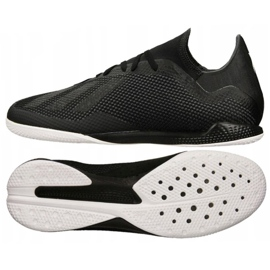 Buty piłkarskie adidas X Tango 18.3 In M DB2442 czarne czarne