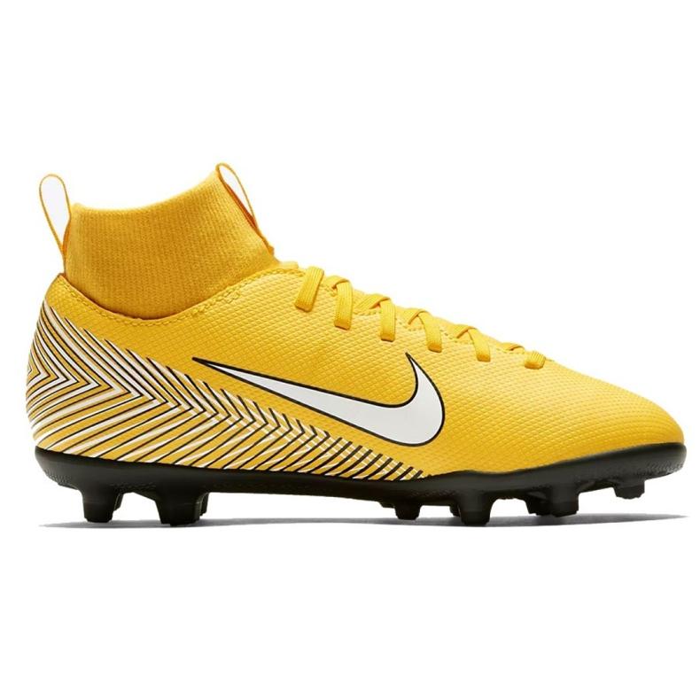 Buty piłkarskie Nike Mercurial Superfly 6 Club Neymar Mg Jr AO2888-710 żółte wielokolorowe