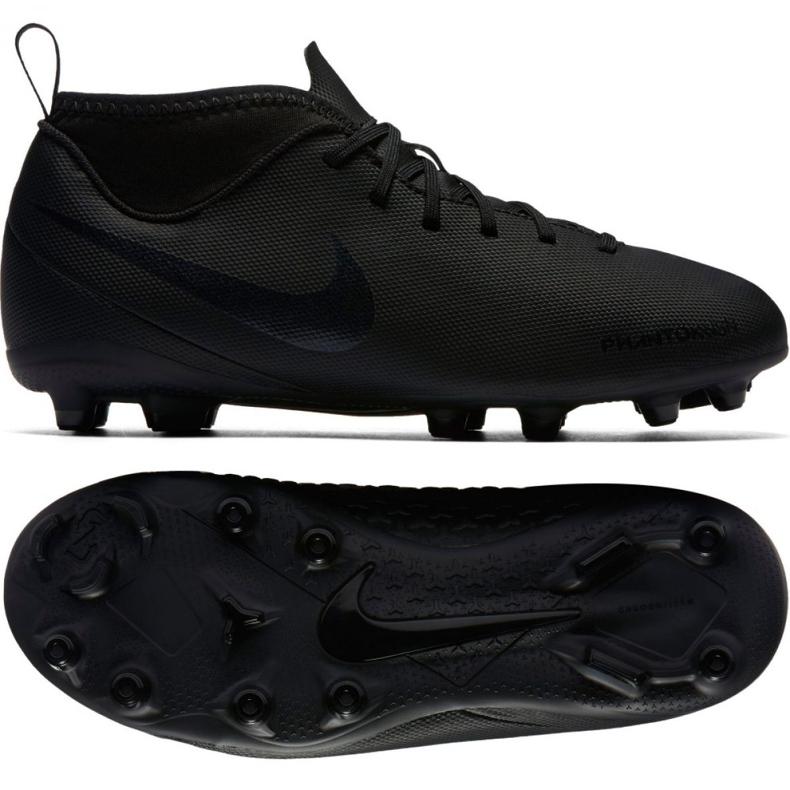 Buty piłkarskie Nike Phantom Vsn Club Df Fg Jr AO3288-001 czarne wielokolorowe