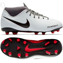 Buty piłkarskie Nike Phantom Vsn Club Df Fg Jr AO3288-060 białe wielokolorowe