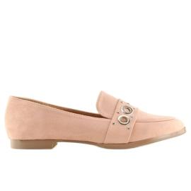Mokasyny damskie różowe FF079 Pink