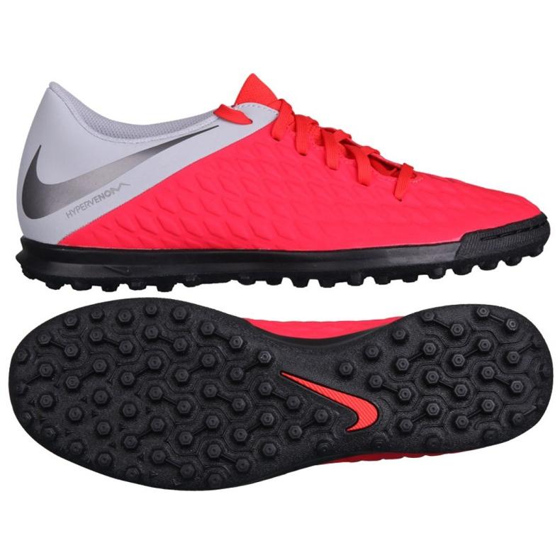 Buty piłkarskie Nike Hypervenom 3 Club Tf AJ3811-600 czerwone czerwone