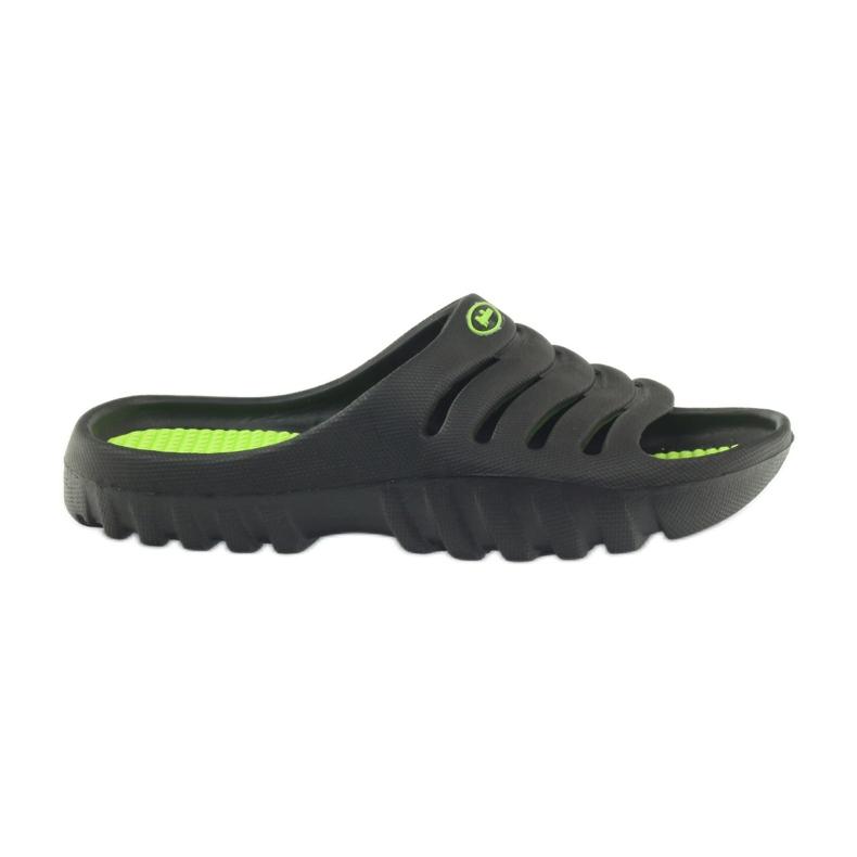 American Club American klapki buty dziecięce basenowe czarne