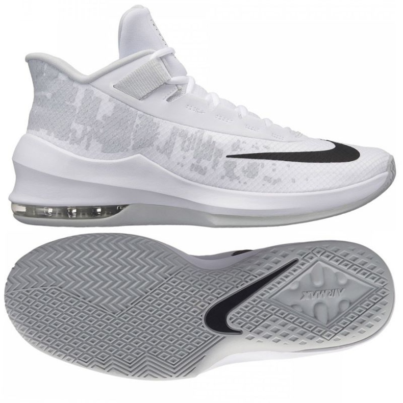 Buty koszykarskie Nike Air Max Infuriate 2 Mid M AA7066-100 białe białe