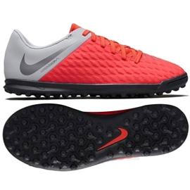 Buty piłkarskie Nike Hypervenom Phantomx 3 Club Tf Jr AJ3790-600 czerwone biały