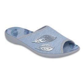 Niebieskie Befado obuwie damskie pu 254D097
