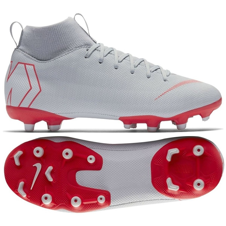 Buty piłkarskie Nike Mercurial Superfly 6 Academy Gs Mg Jr AH7337-060 srebrny szare