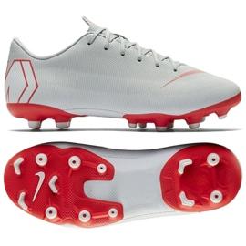 Buty piłkarskie Nike Mercurial Vapor 12 Academy Gs Mg Jr AH7347-060 srebrny wielokolorowe