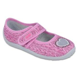 Różowe Befado  obuwie dziecięce 945X325