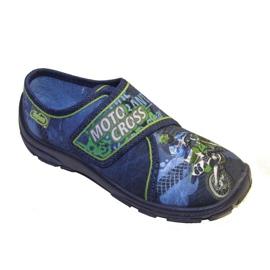 Befado obuwie dziecięce 974X325 niebieskie zielone granatowe