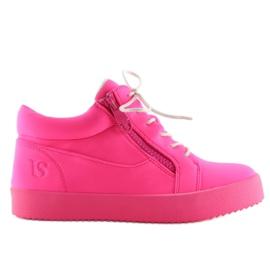 Buty sportowe damskie różowe 1413 Fuchsia