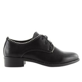 Półbuty damskie sznurowane czarne NC190 Black