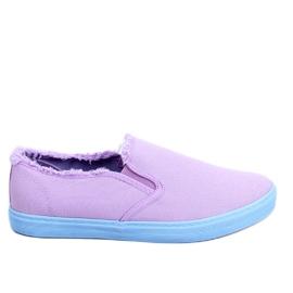 Slipony damskie fioletowe NB166 Purple