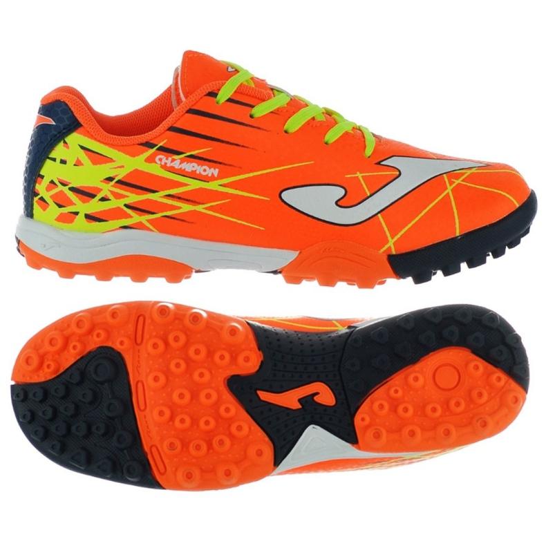 Buty piłkarskie Joma Champion Tf Jr CHAJW.808.TF pomarańczowe pomarańczowy