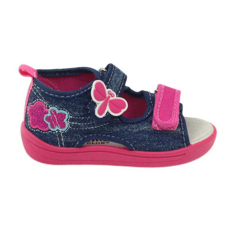 American Club American buty dziecięce sandałki motylki wkładka skórzana