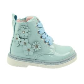 American Club American trzewiki botki buty dziecięce 1424 niebieskie