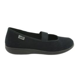 Czarne Befado obuwie młodzieżowe pvc 412Q002