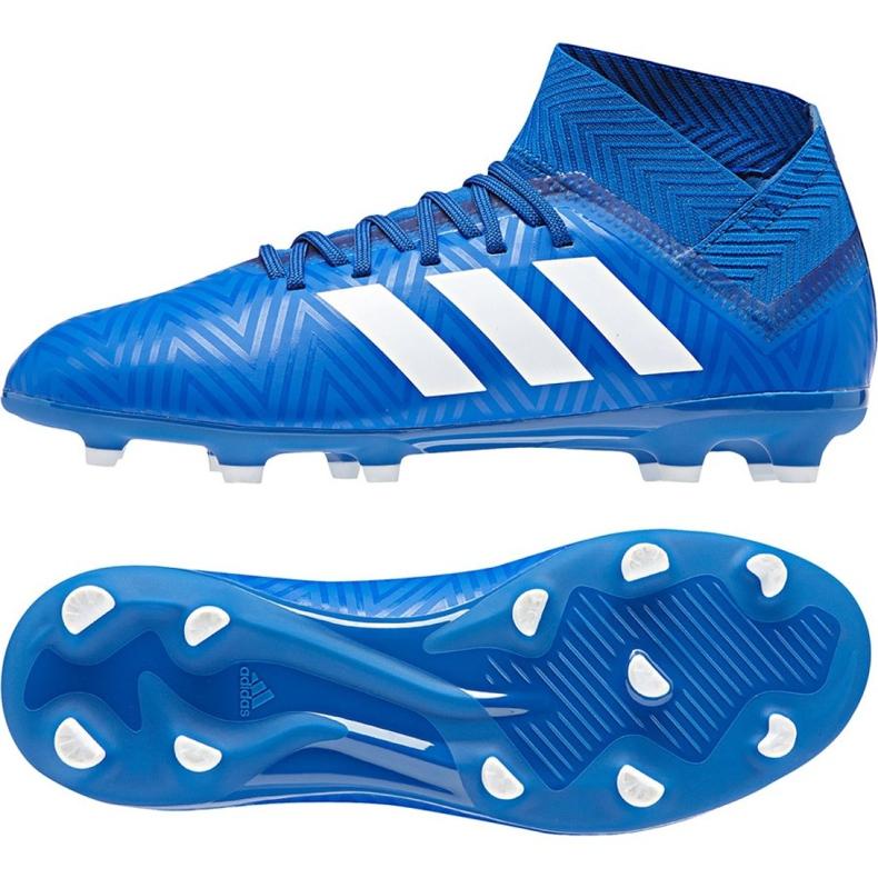 Buty piłkarskie adidas Nemeziz 18.3 Fg Jr DB2351 niebieskie wielokolorowe