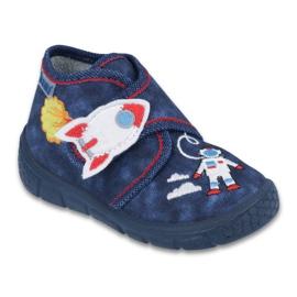Granatowe Befado obuwie dziecięce 529P057
