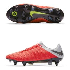 Buty piłkarskie Nike Hypervenom 3 Elite Sg Pro Ac M AJ3810-600 czerwone czerwone