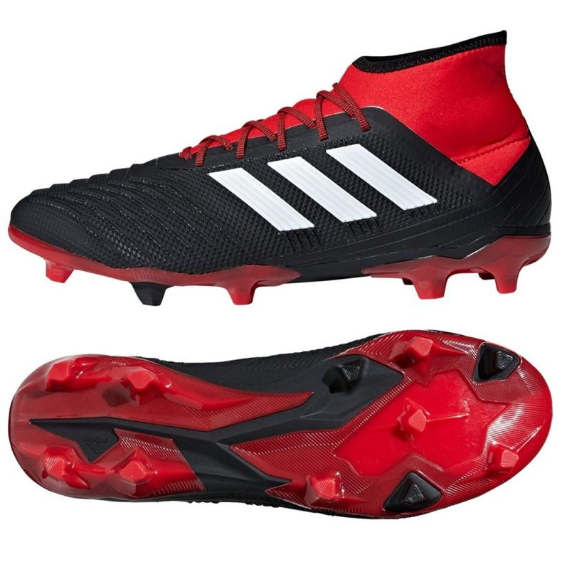 Buty piłkarskie adidas Predator 18.2 Fg M DB1999 czarne wielokolorowe