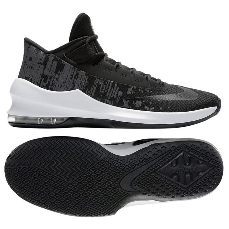 Buty koszykarskie Nike Air Max Infuriate 2 Mid M AA7066-001 czarne czarne