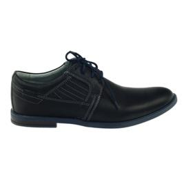 Granatowe Riko buty męskie półbuty casualowe 819
