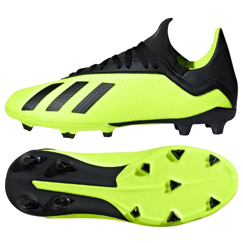 Buty piłkarskie adidas X 18.3 Fg Jr DB2418 zielone wielokolorowe