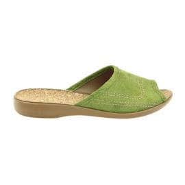 Befado buty damskie kapcie klapki 254D021 zielone
